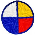 Medallion-Medicine Wheel Blue